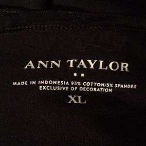 Ann Taylor Tops - Ann Taylor Satin Trim Black Cami